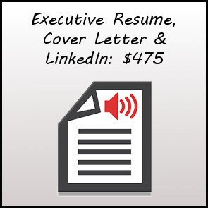Executive Resume, Cover Letter and LinkedIn
